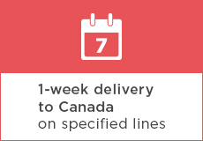 1 Week Delivery to Canada on specified lines