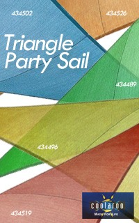 Coolaroo-Triangle Party Sails