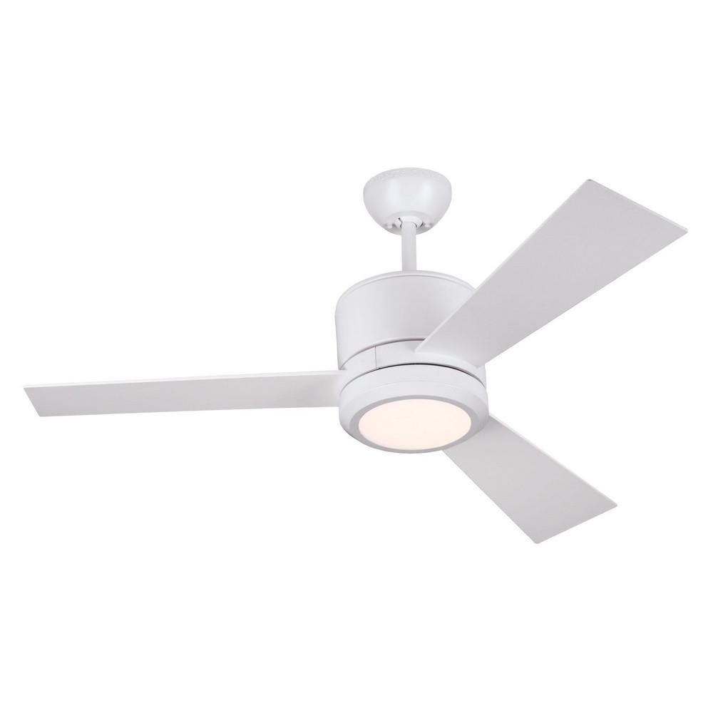 Bailey Street Home 96 Bel 3008621 42 Inch 3 Blade Ceiling Fan With Led Light Kit Modern Contemporary Ceiling Fan
