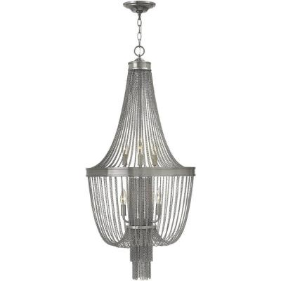 Fredrick Ramond Lighting FR44305BNI Regis - Six Light Foyer