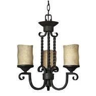 Hampton Three Light Chandelier