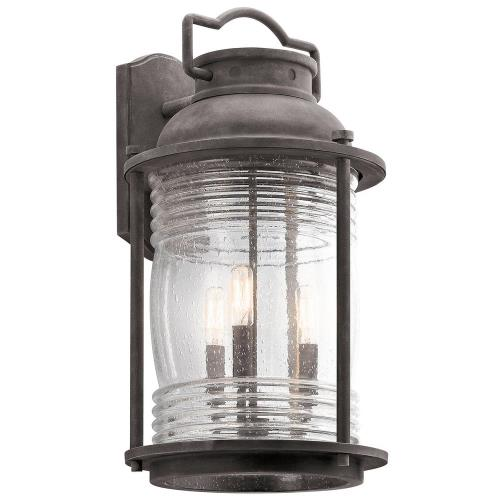 Kichler Ashland Bay Outdoor Pedestal Lantern Weathered: Kichler Lighting