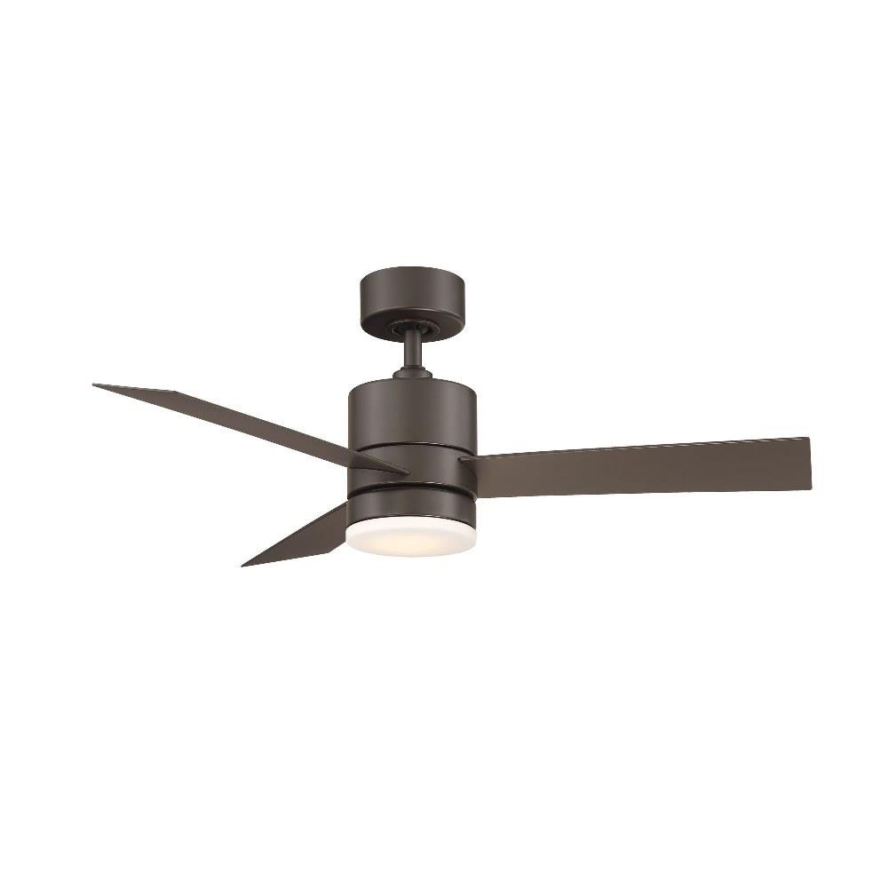 Modern Forms Fr W1803 44l Axis 44 Inch 3 Blade Ceiling Fan With Light Kit And Remote Control