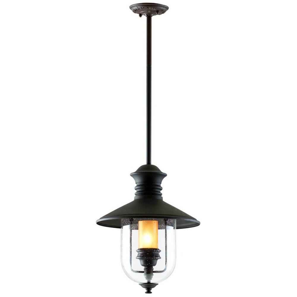 Old Town - One Light Outdoor Large Hanging Lantern